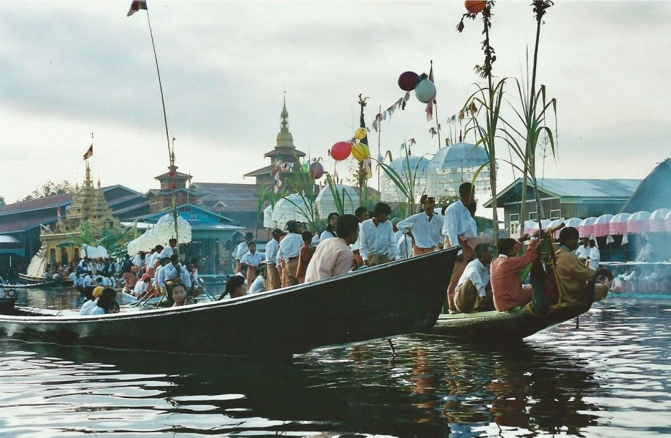 Course de pirogues, Lac Inlé, Birmanie (octobre 2005)