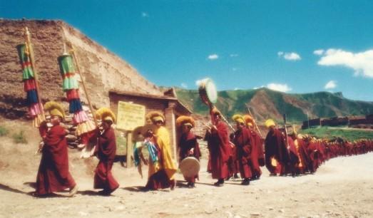 Monastère de bonnets jaunes, Amdo (août 2004)