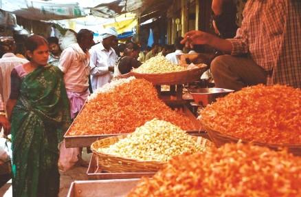Jasmin, marché de Mysore, Inde du sud (mars 2003)