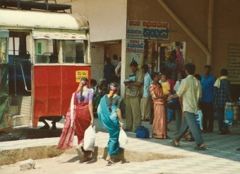 Gare routière de Margao, Inde du sud (Mars 2003)