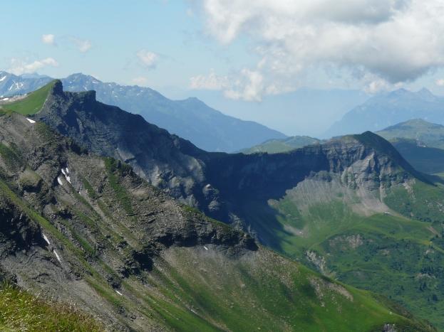 Vue sur l'Espace Diamant, Haute-Savoie (juillet 2014)